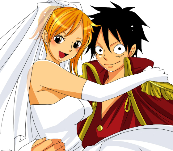 Luffy Married Nami by Stelladoll