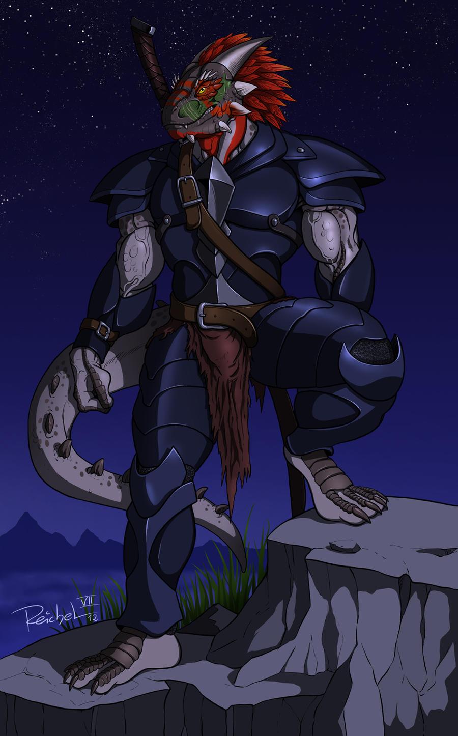 Taggcrossroad: Argonian Warrior by ReptileCynrik