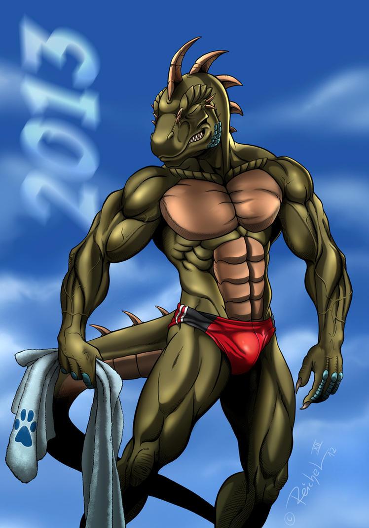 Reptilian Athlete by ReptileCynrik