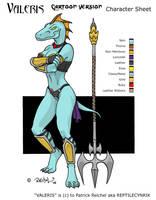 Valeris: Cartoon Version by ReptileCynrik