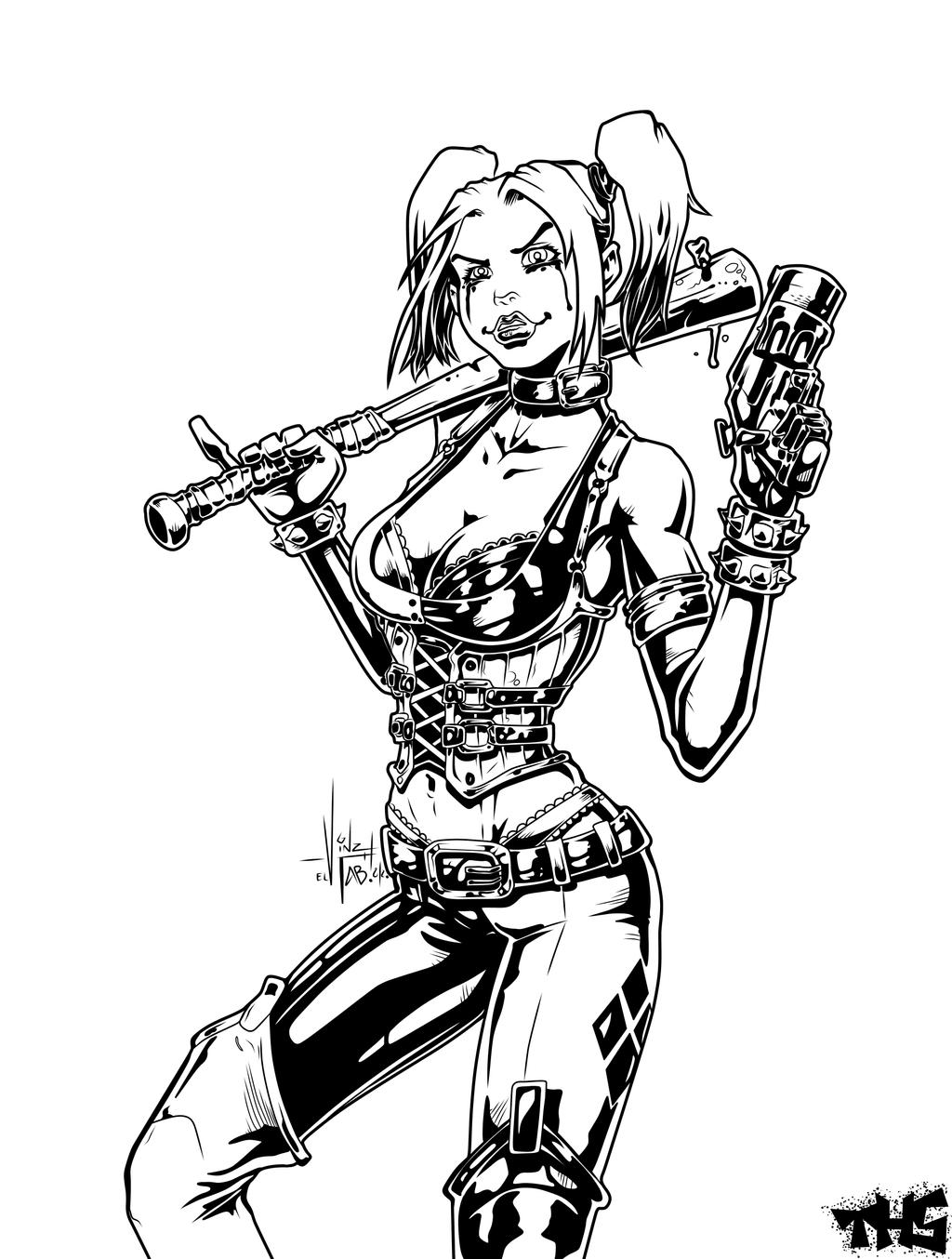Harleyquinn by tomasu815 on deviantart for Harley quinn coloring pages