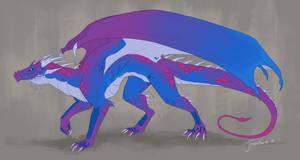 Dragon Coloured Sketch -Comm-