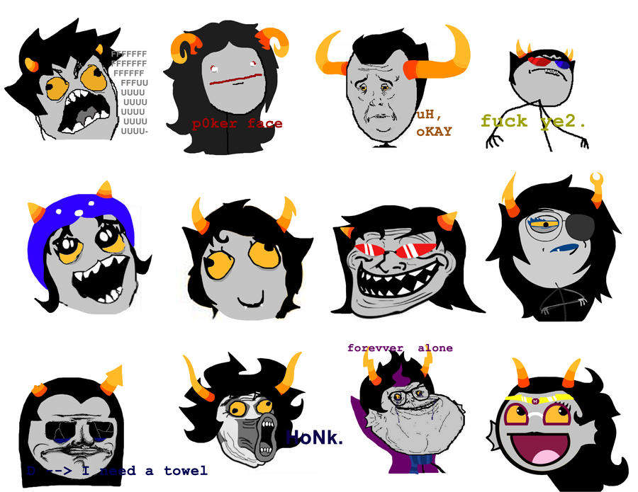 Homestuck troll face memes by warcry31