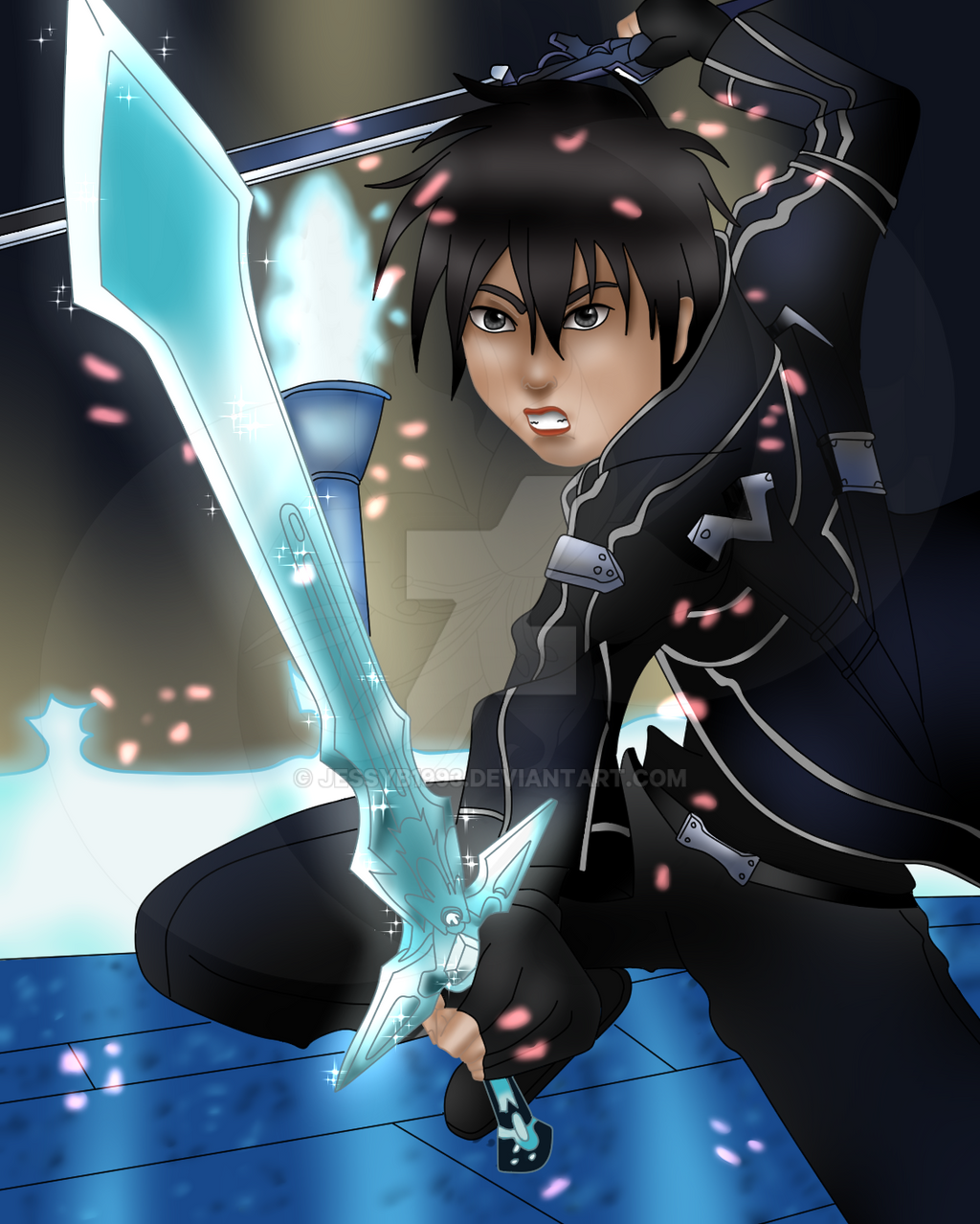 Kirito Sword art Online Fanart by JessyB1993 on DeviantArt