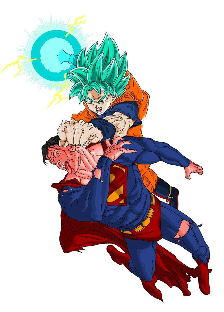 Goku Super Saiyan God Vs Superman