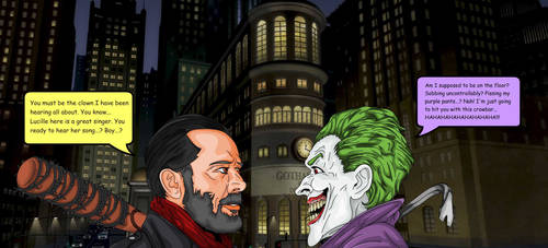 Joker Vs Negan by darthpinhead47