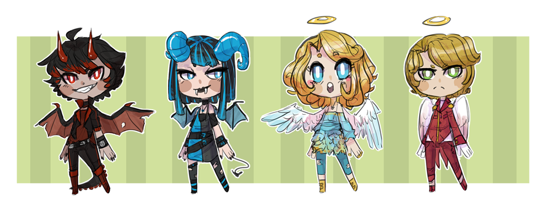 Angel And Demon Adopts (CLOSED) by Olivine-Adopts