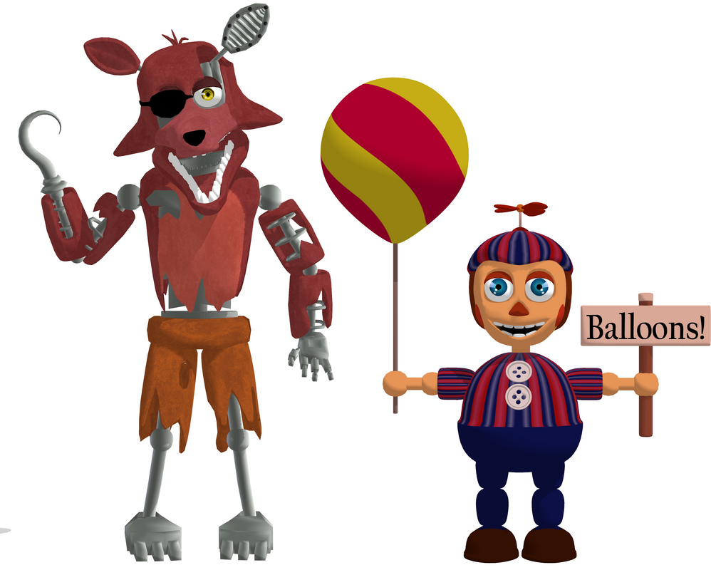 Mmd fnaf 2 whitered foxy and bb download by mmdlovemiku on