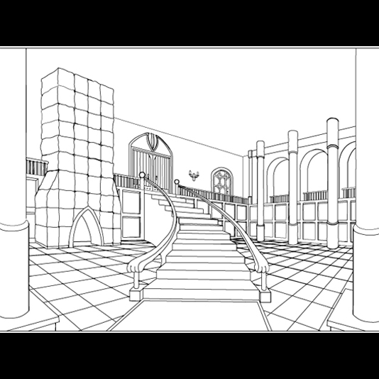 Gothic Castle Interior By Zacly