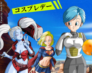 Cosplay Day, but Bulma only has Vegeta's Outfit by adb3388