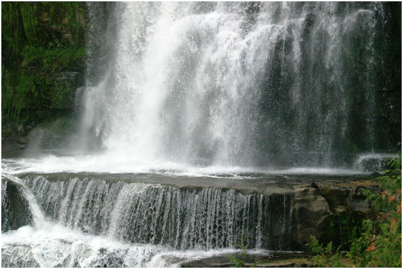 Chittenango Falls Waterfall Stock Image II by MissNioniel