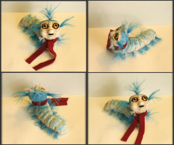 OOAK Ello Worm from Labyrinth Sculpture by MissNioniel