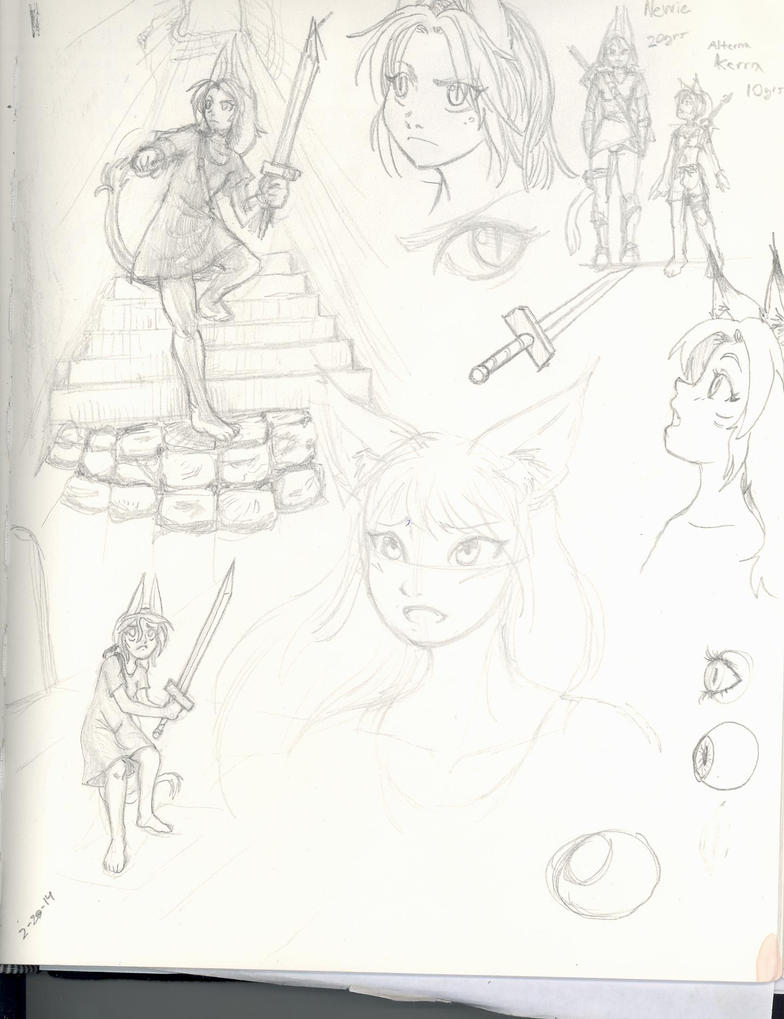 Sketchbook 022 by MrBagelbottom