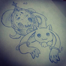 Sketch Lottery #13 Madoka Magica by CleverAvian