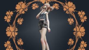 MMD Crop top and Shorts