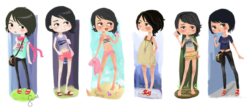 Mini Me and Outfits by ser-en