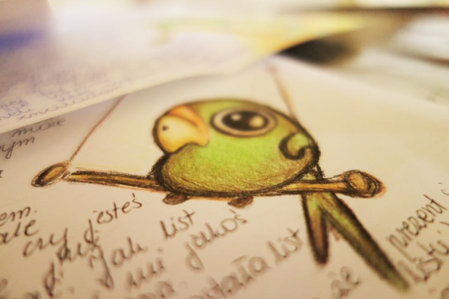 Parrot by sourissou
