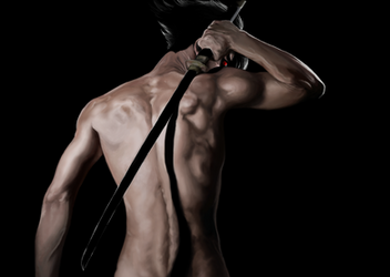 Sasuke Uchiha - Naked Aggression by MagicBunni