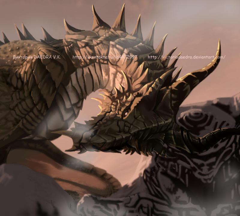 Yukine (ID) Skyrim__dragon_by_victoriadaedra-d4gjfup