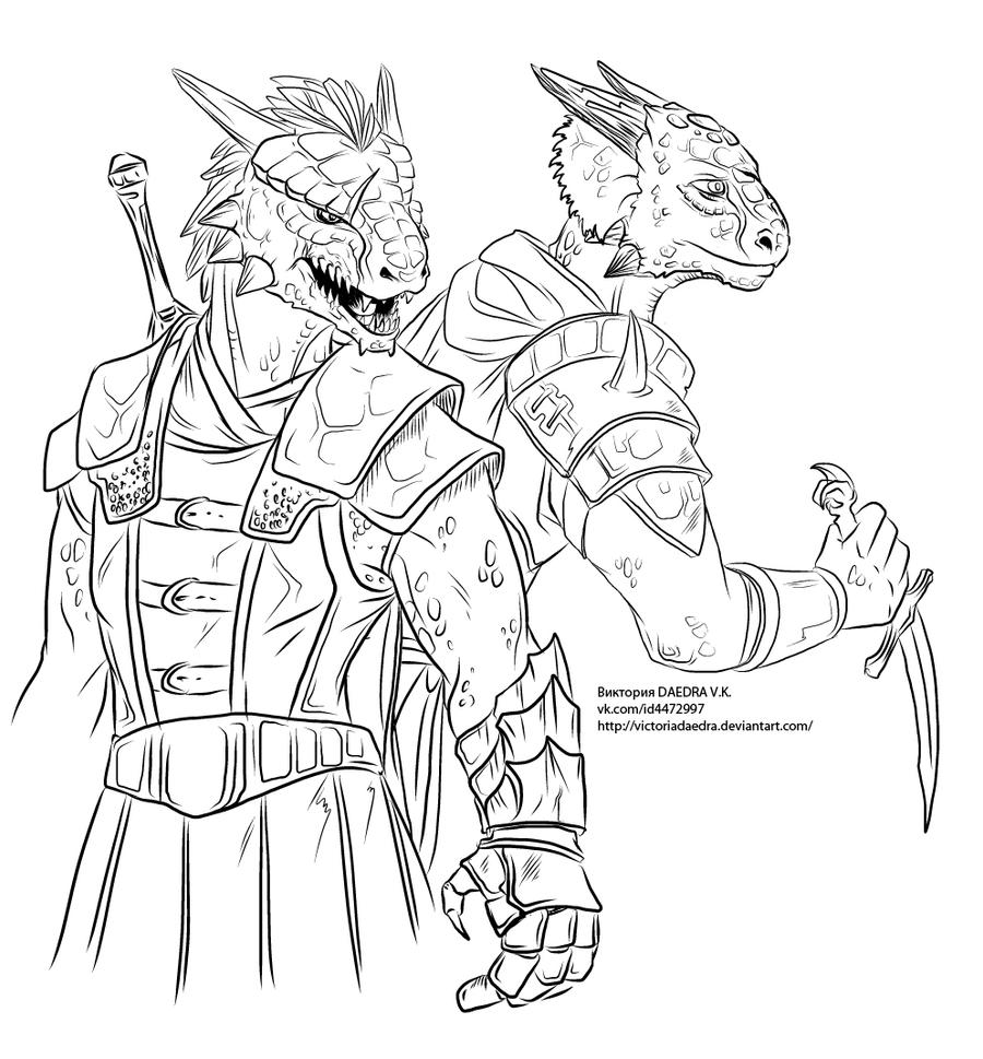 female dragonborn coloring pages - photo#10