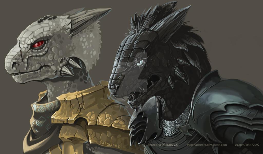 Argonians (fragment) by VictoriaDAEDRA