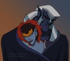 Thailog and Demona by VictoriaDAEDRA