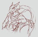 Sakhees, argonian sketch