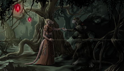 Commission_argonians by VictoriaDAEDRA