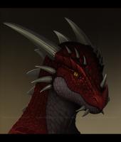 [COMM] Dragon Portrait by VictoriaDAEDRA