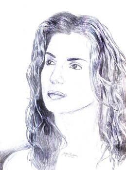 Sandra Bullock - Pen Drawing