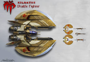 Kilrathi Dralthi Concept (Wing Commander) by dczanik