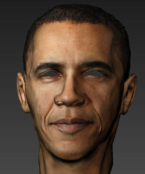 unfinished Obama Textured Mudbox 3d model sculpt
