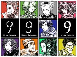 9 Hours 9 Persons 9 Doors by SilverHyena