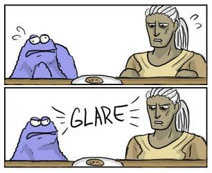 Sten vs the Cookie Monster by SilverHyena
