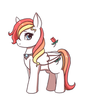 MLP OC Profile: Rainbow Rose by SilverHyena