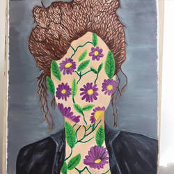 Flower face by Jessicaxoxo4