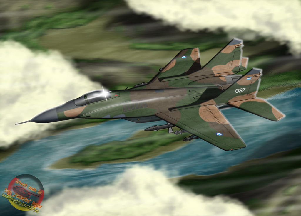 Rupian Federation MiG-29 by Panzerfire