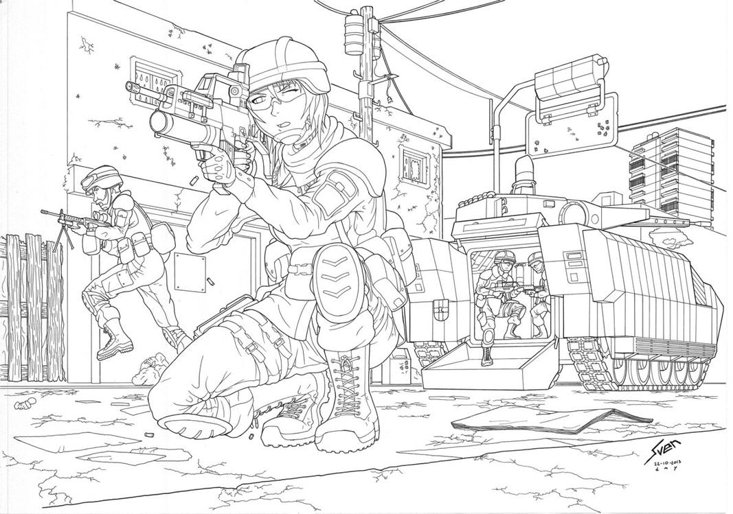 Dismounting (WIP) by Panzerfire