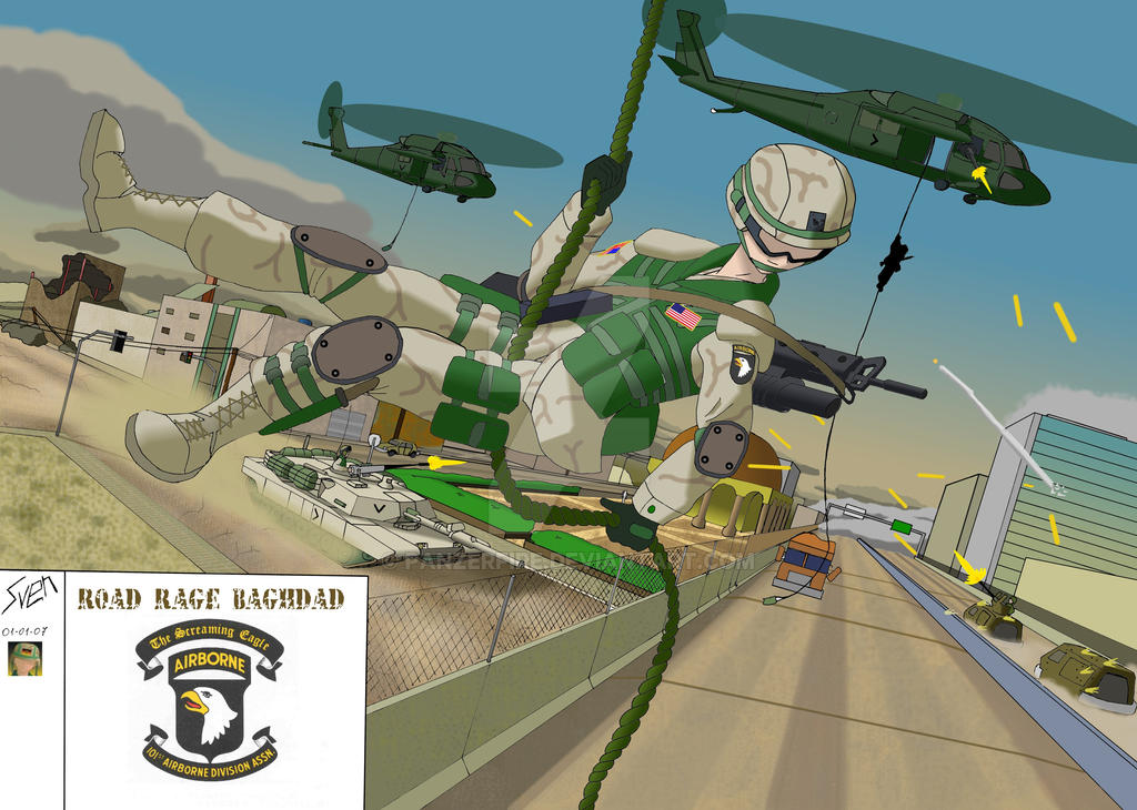 Road Rage Baghdad by Panzerfire
