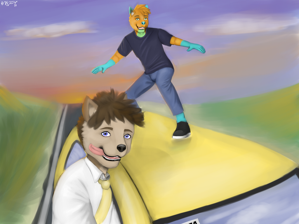 Car Surfing by Askalsky