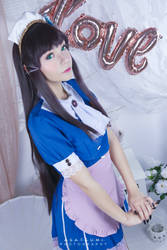 Dia Kurosawa ver. Valentine's Maid from Love Live by annemcosplay