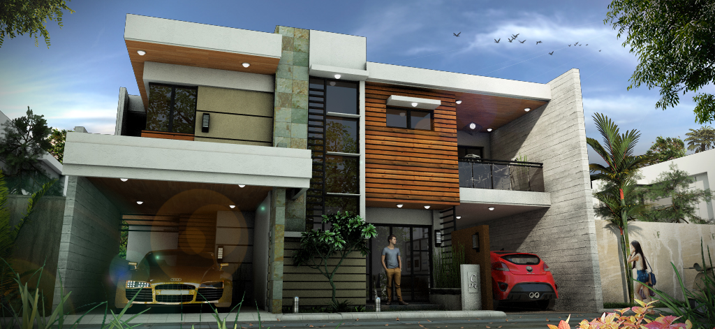 Modern house design by christianyuri on deviantart for Modern house sketchup
