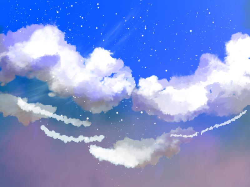 Clouds and sky by hikaraseru