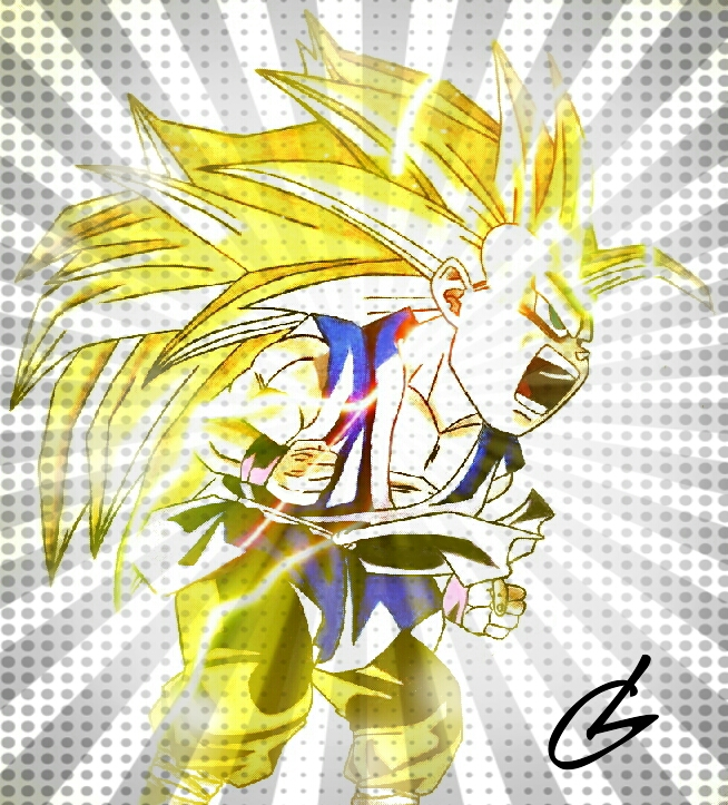Super Saiyan 3 Kid Goku by just3inchesunder on DeviantArt