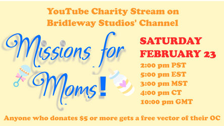 COMING SOON Missions for Moms Charity Stream