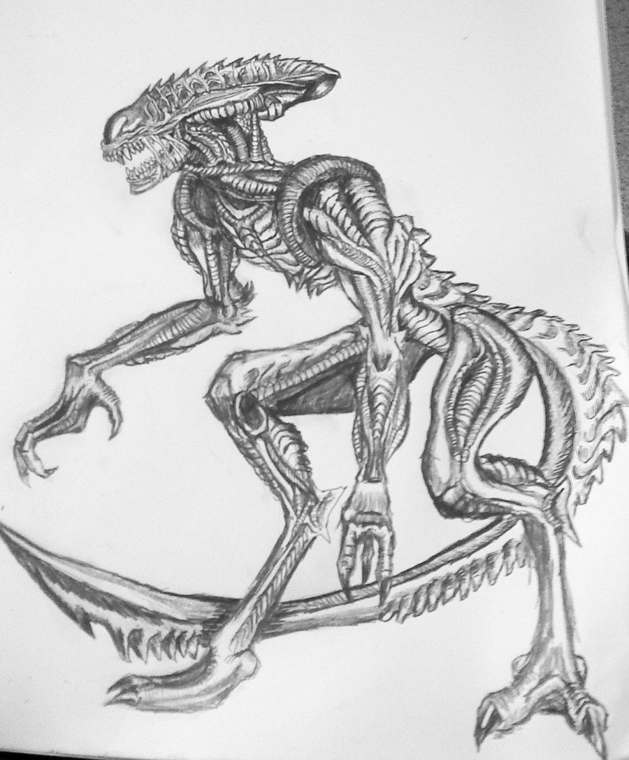 Alien Sketch by Maridia99