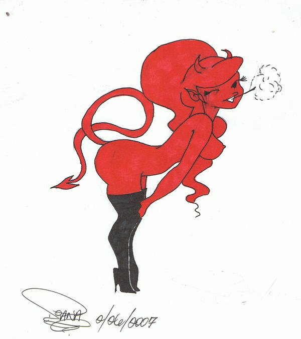 Cute she devil by babiitaloka on deviantart for She devil tattoo