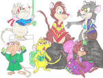 Brisby Family as Hippies