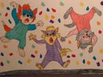 Banjo and Sisters Indoor Skydiving by CartoonLovingFeline