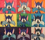 Furrball Warhol by CartoonLovingFeline